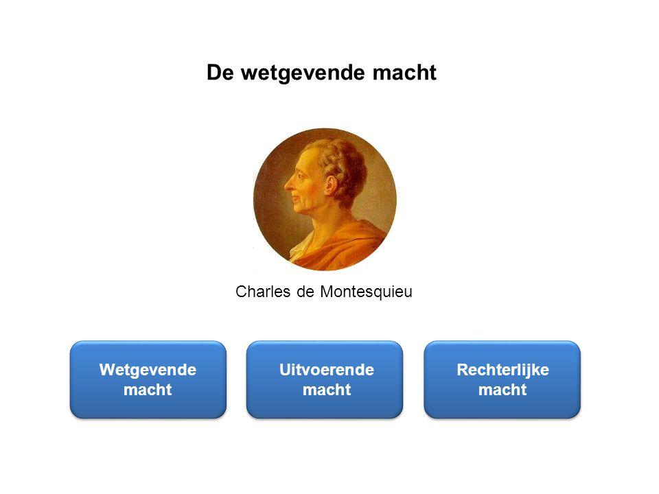 De wetgevende macht Charles de Montesquieu Wetgevende macht