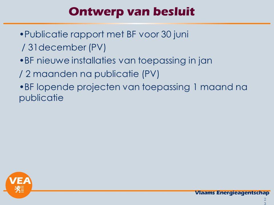 Ontwerp van besluit Publicatie rapport met BF voor 30 juni