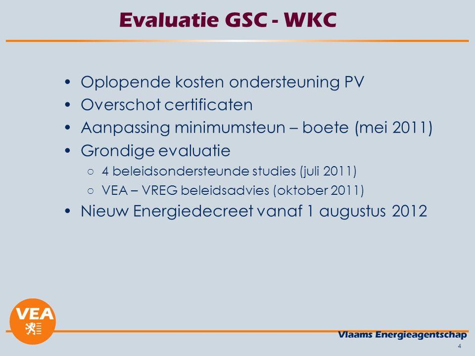 Evaluatie GSC - WKC Oplopende kosten ondersteuning PV