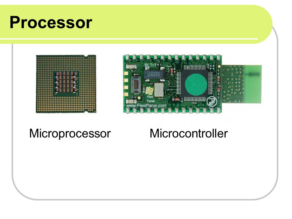 Processor Microprocessor Microcontroller