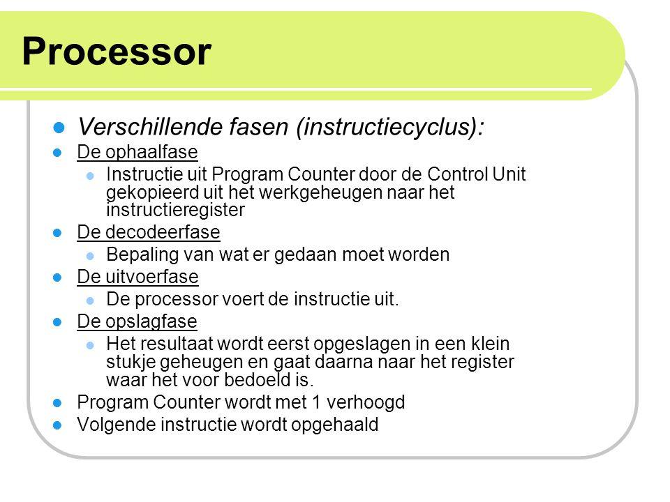 Processor Verschillende fasen (instructiecyclus): De ophaalfase