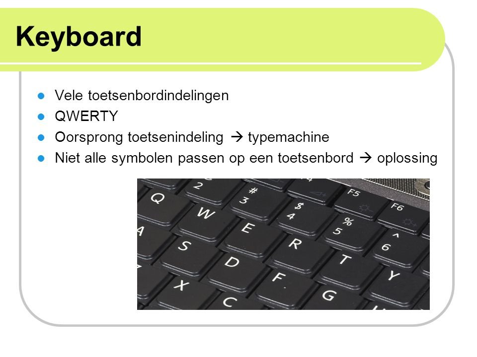 Keyboard Vele toetsenbordindelingen QWERTY