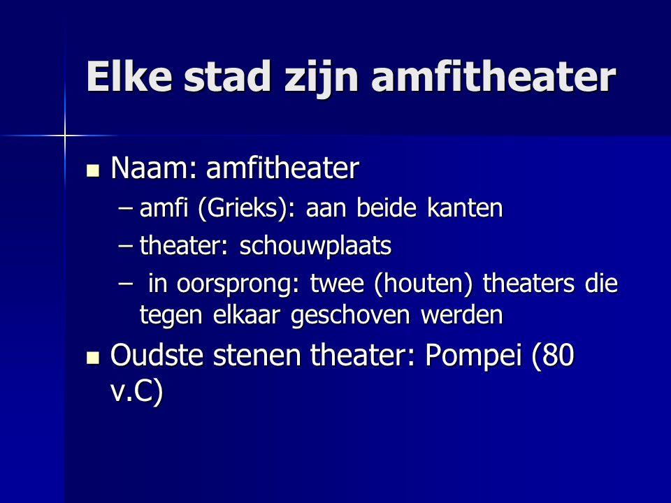 Elke stad zijn amfitheater