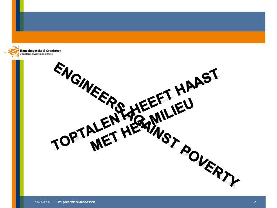 Toptalent heeft haast met het milieu Engineers against poverty