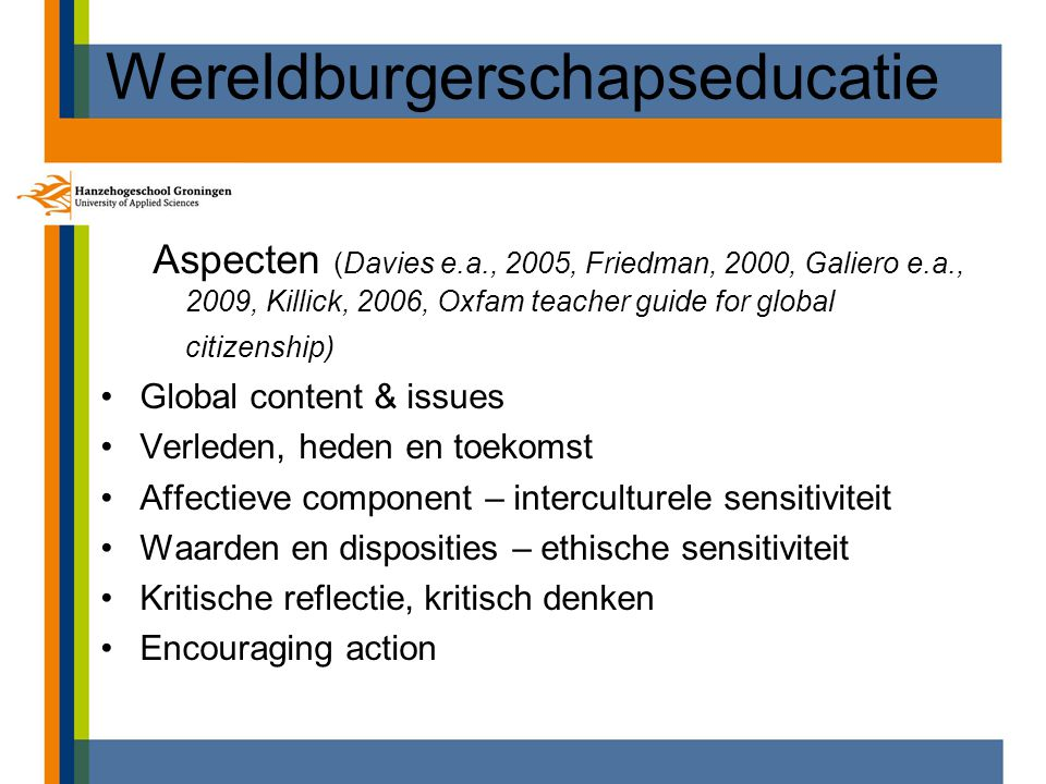 Wereldburgerschapseducatie
