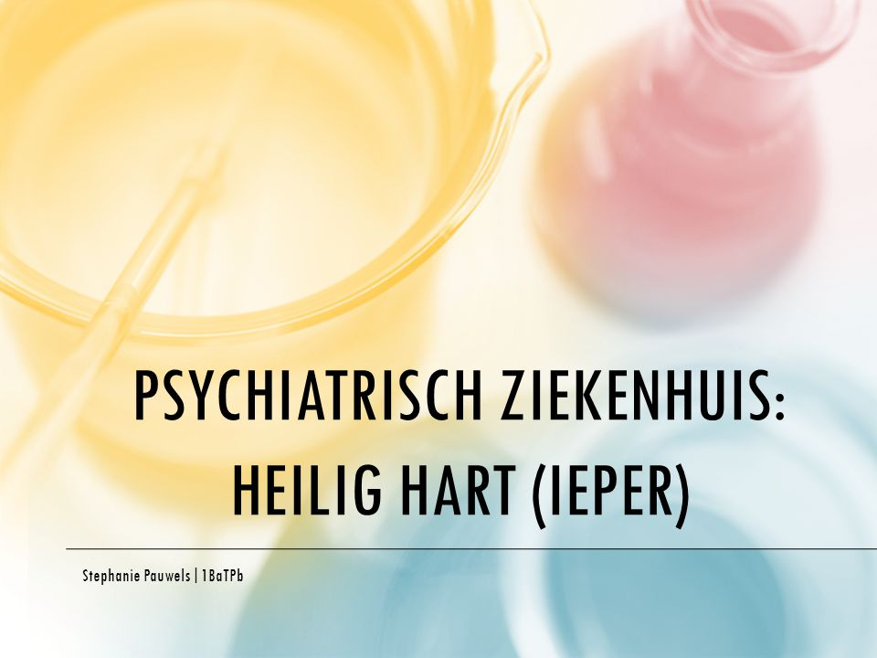 Psychiatrisch ziekenhuis: Heilig Hart (Ieper)