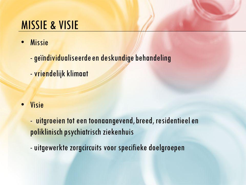 Missie & visie Missie - geïndividualiseerde en deskundige behandeling