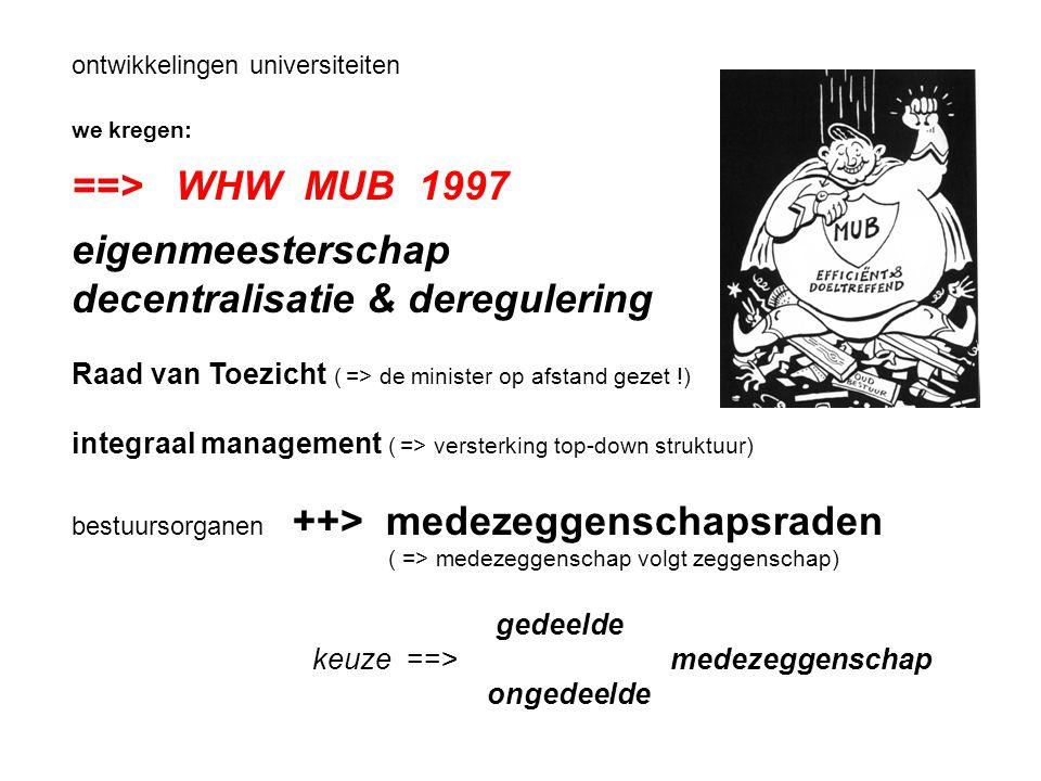decentralisatie & deregulering