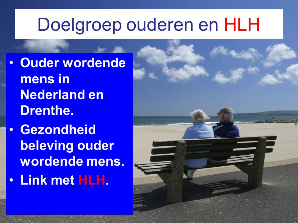 Doelgroep ouderen en HLH