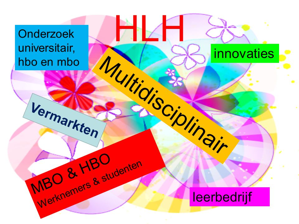 HLH Multidisciplinair MBO & HBO innovaties Vermarkten leerbedrijf