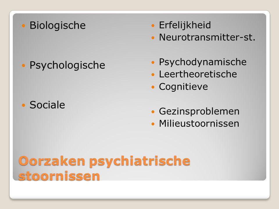 Oorzaken psychiatrische stoornissen