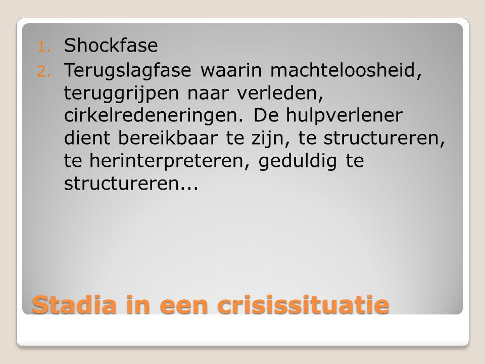 Stadia in een crisissituatie