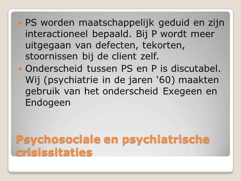 Psychosociale en psychiatrische crisissitaties