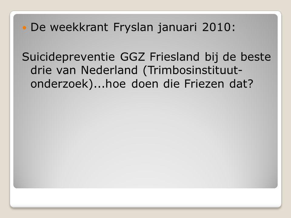De weekkrant Fryslan januari 2010: