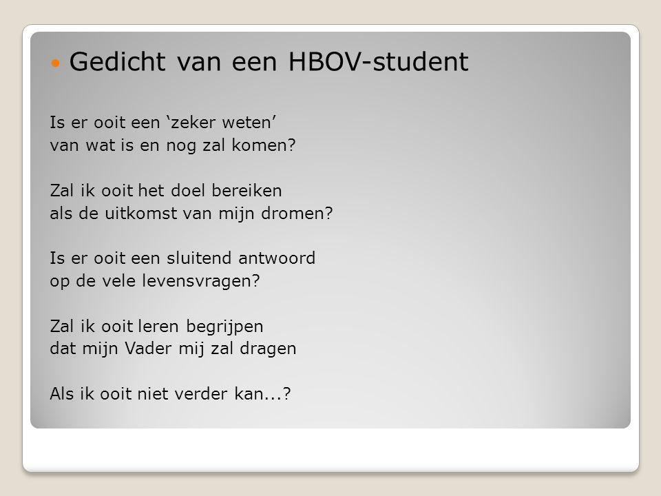 Gedicht van een HBOV-student