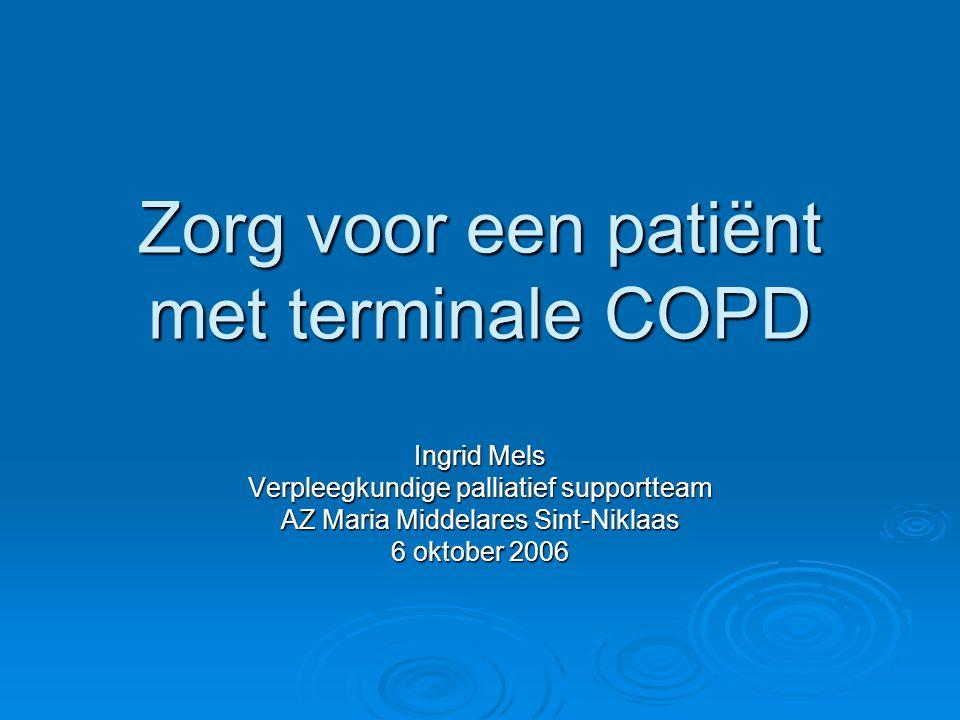 Zorg voor een patiënt met terminale COPD
