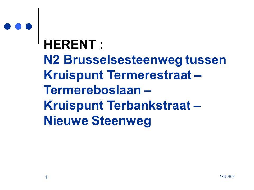 N2 Brusselsesteenweg tussen Kruispunt Termerestraat – Termereboslaan –