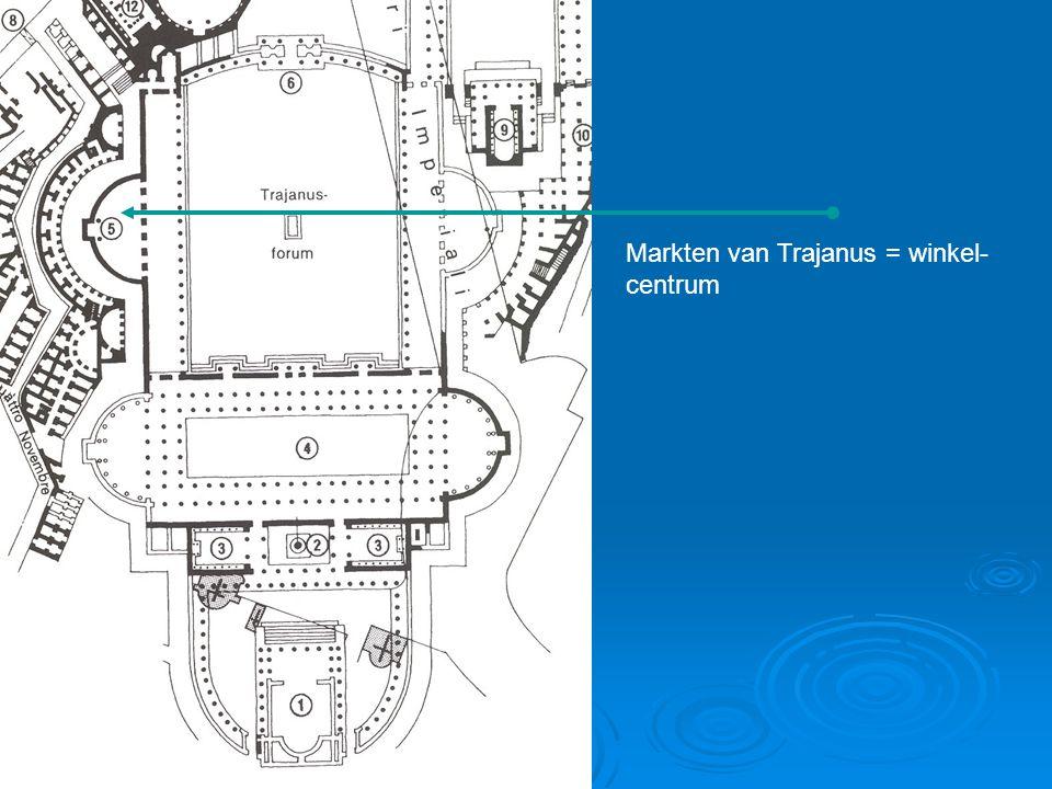 Markten van Trajanus = winkel- centrum