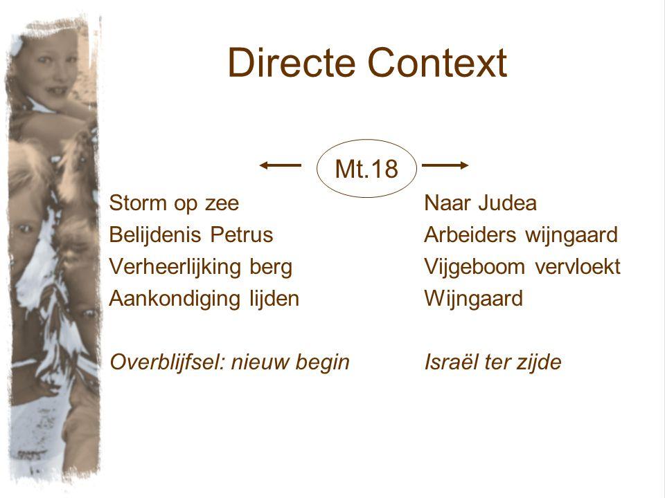 Directe Context Mt.18 Storm op zee Naar Judea
