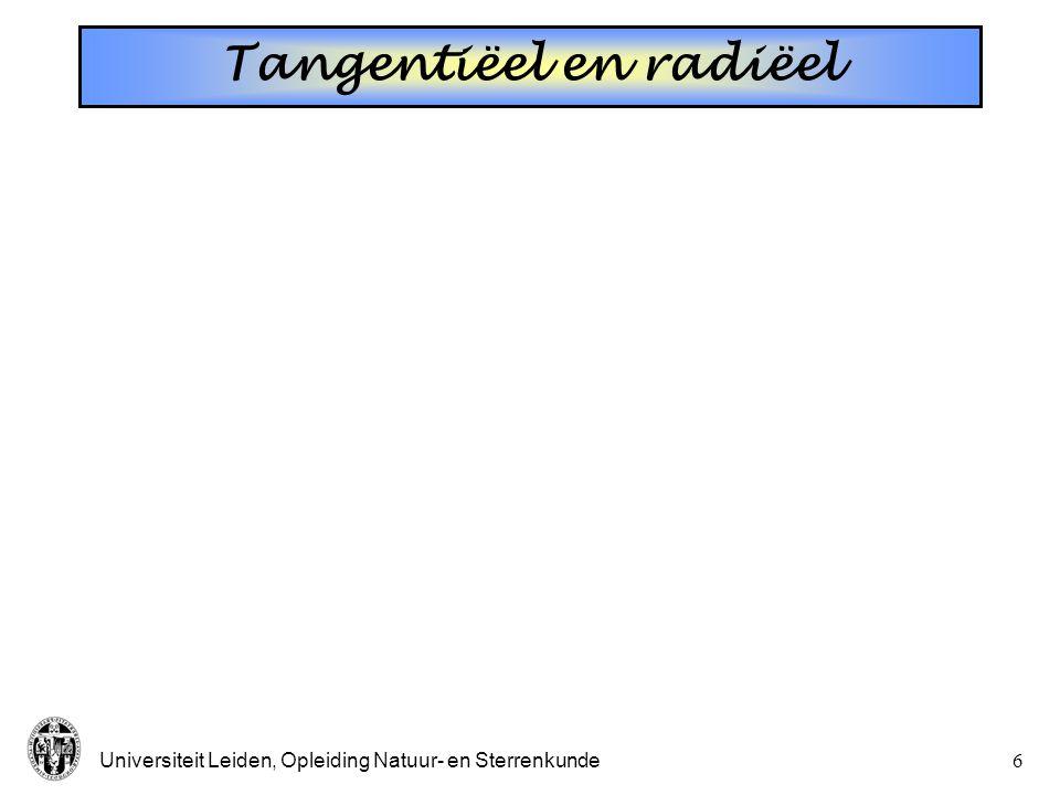 Tangentiëel en radiëel