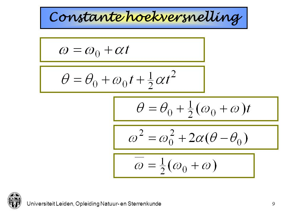 Constante hoekversnelling
