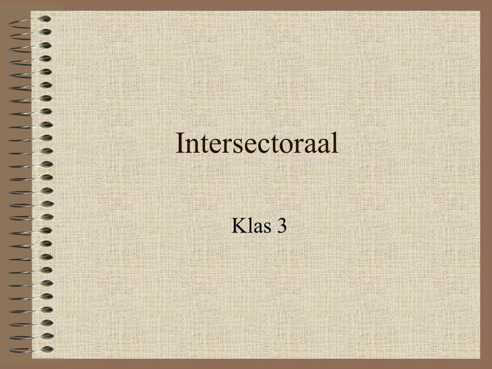 Intersectoraal Klas 3