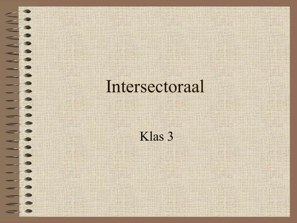 Intersectoraal Klas 3