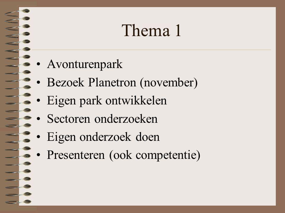 Thema 1 Avonturenpark Bezoek Planetron (november)