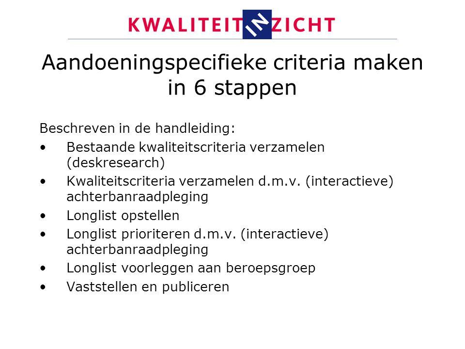 Aandoeningspecifieke criteria maken in 6 stappen