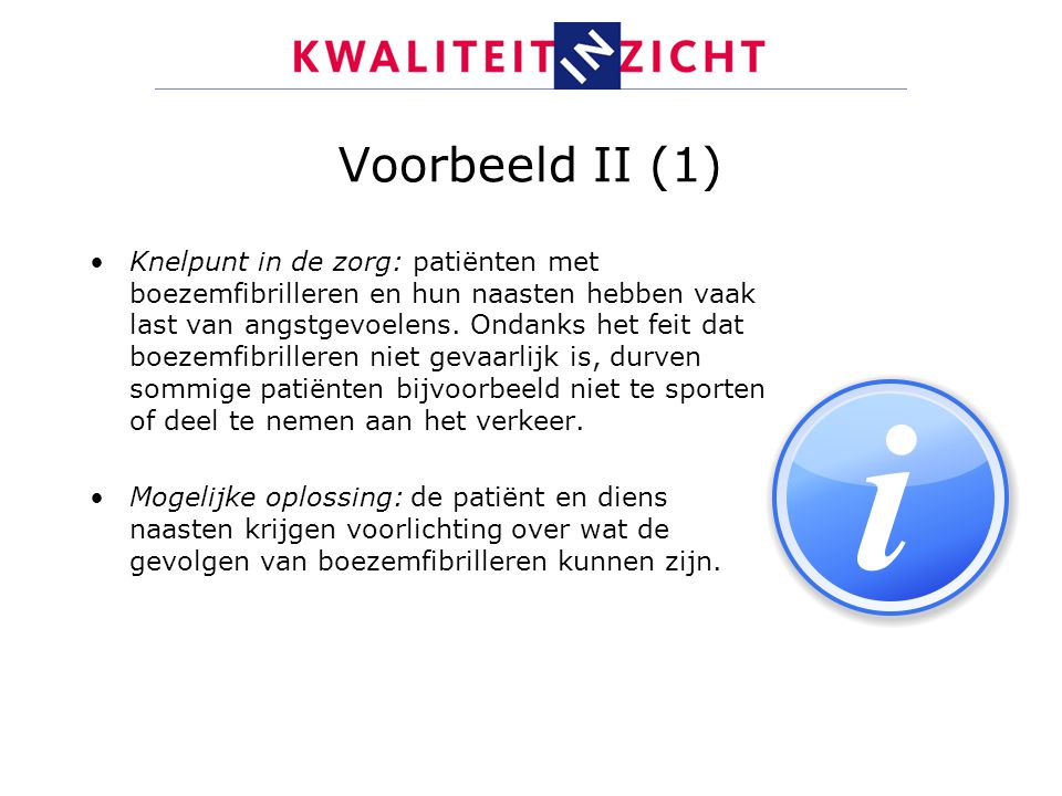 Voorbeeld II (1)