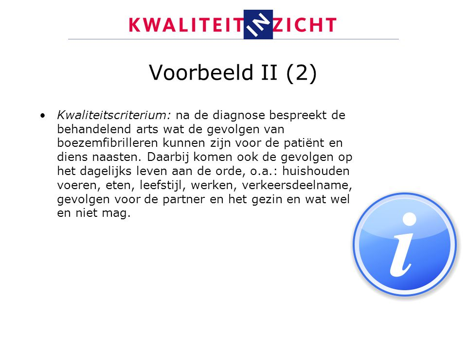 Voorbeeld II (2)