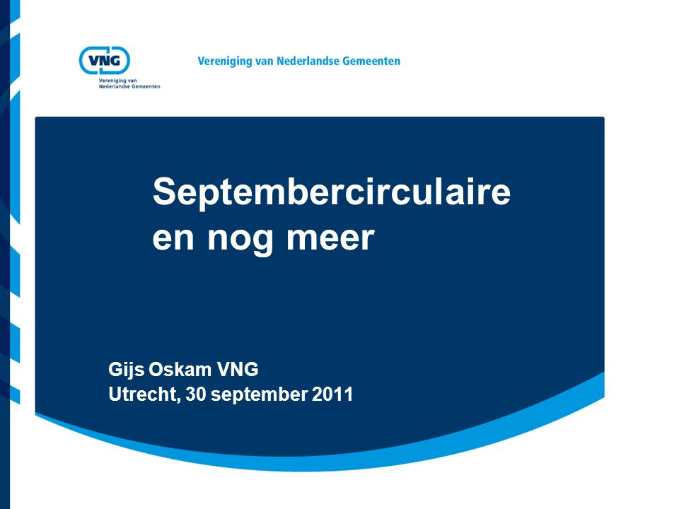 Septembercirculaire en nog meer