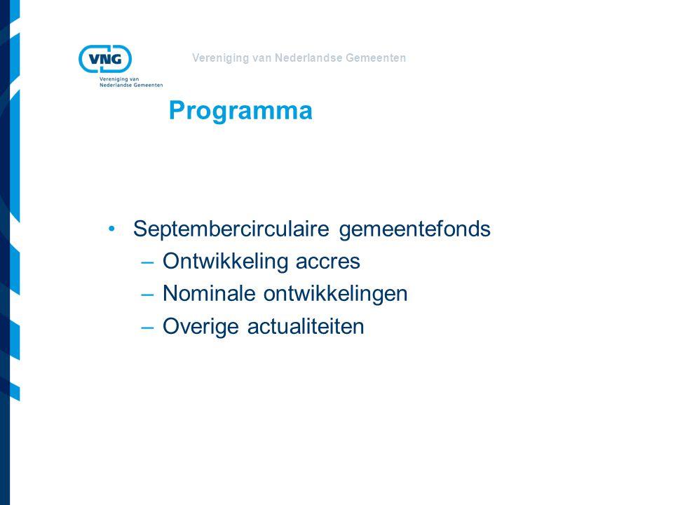 Programma Septembercirculaire gemeentefonds Ontwikkeling accres