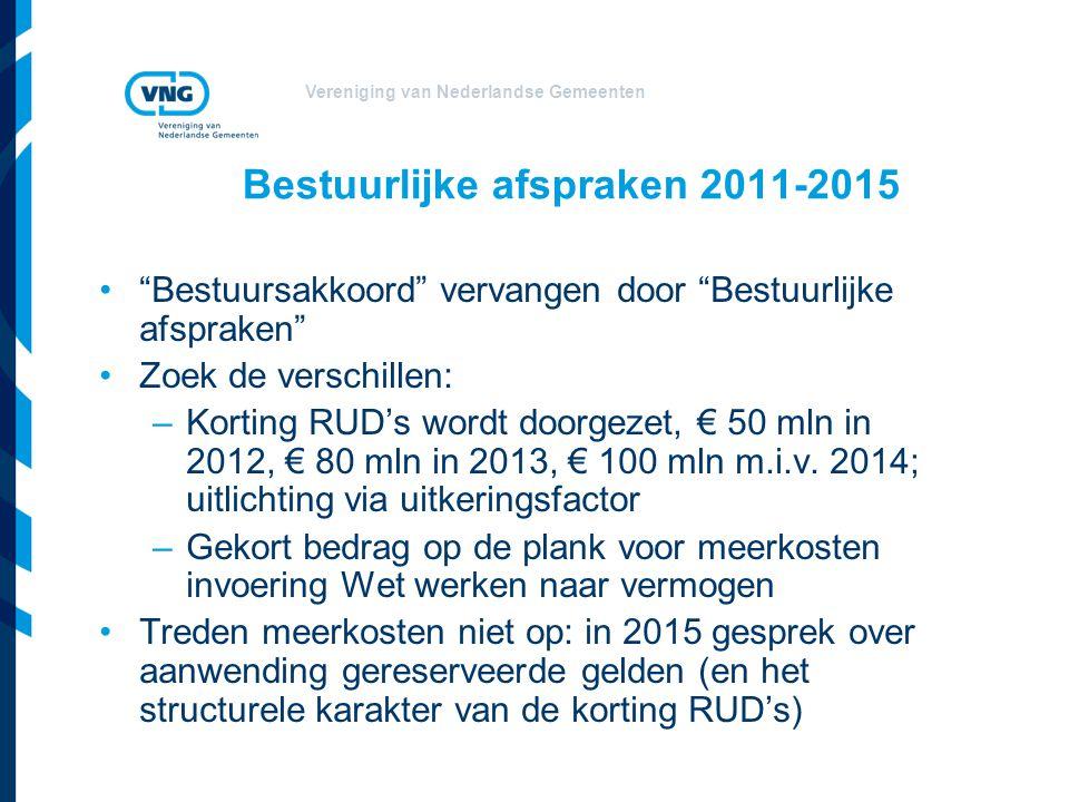 Bestuurlijke afspraken 2011-2015