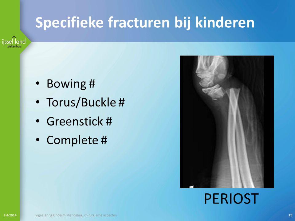 Specifieke fracturen bij kinderen