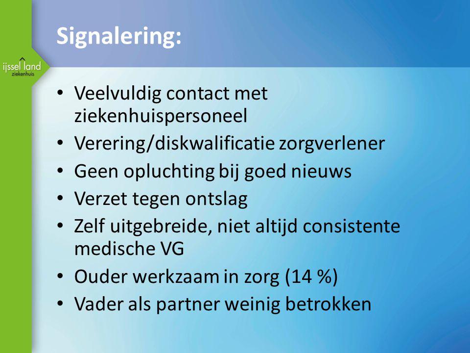 Signalering: Veelvuldig contact met ziekenhuispersoneel