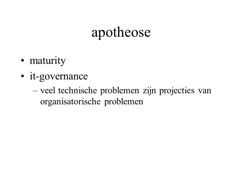 apotheose maturity it-governance