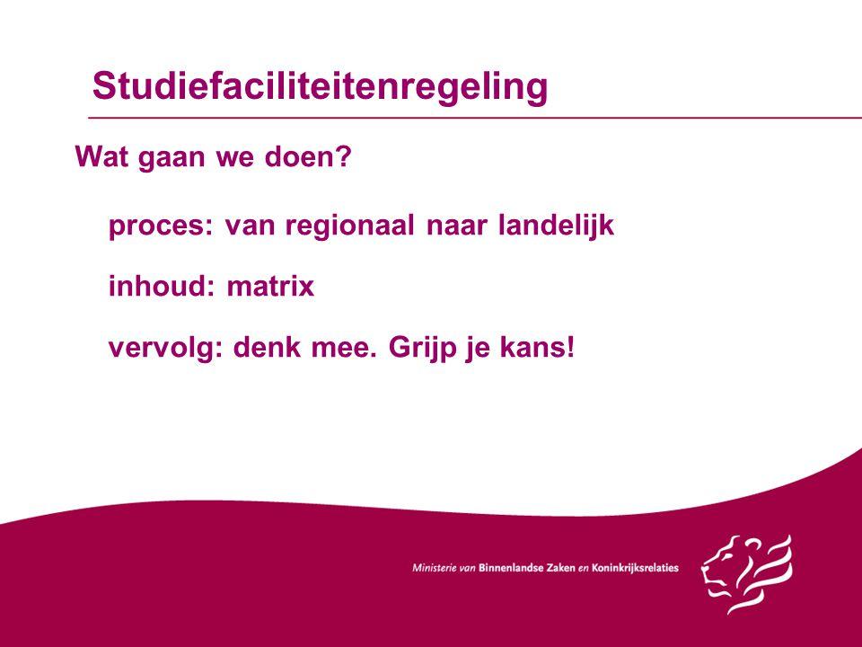 Studiefaciliteitenregeling