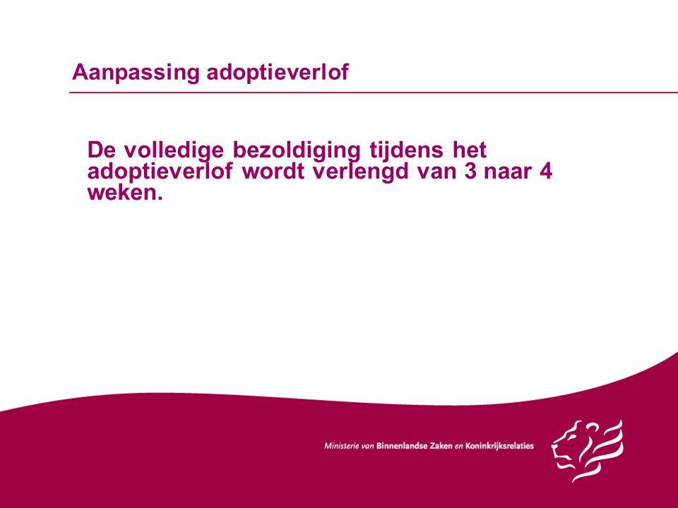 Aanpassing adoptieverlof