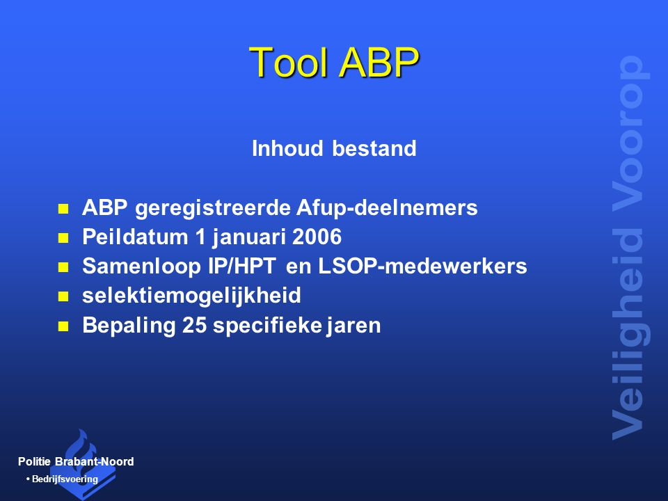 Tool ABP Inhoud bestand ABP geregistreerde Afup-deelnemers