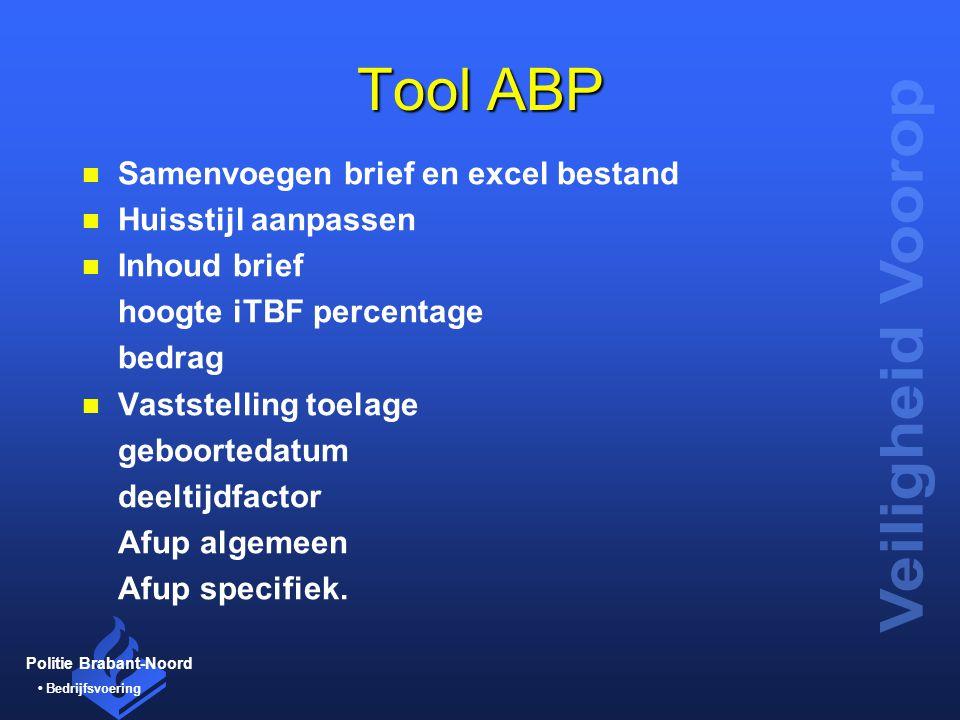 Tool ABP Samenvoegen brief en excel bestand Huisstijl aanpassen
