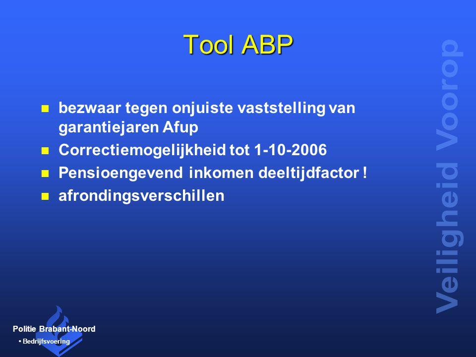 Tool ABP bezwaar tegen onjuiste vaststelling van garantiejaren Afup