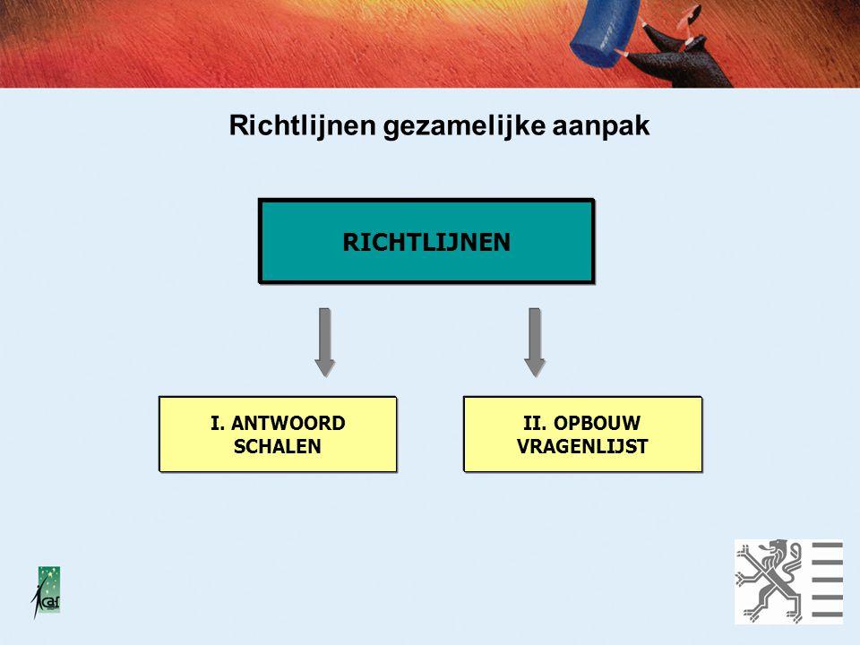 Richtlijnen gezamelijke aanpak