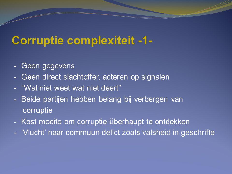 Corruptie complexiteit -1-