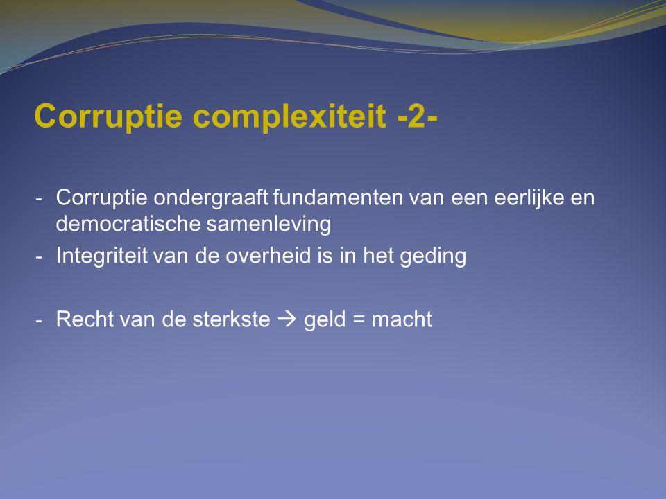 Corruptie complexiteit -2-