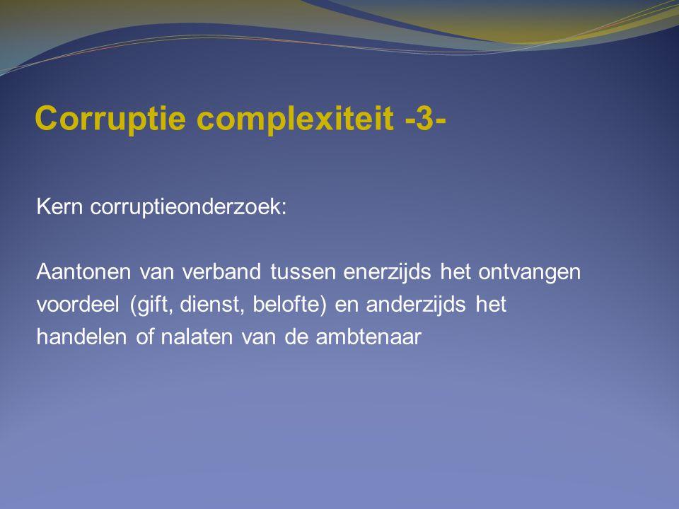 Corruptie complexiteit -3-