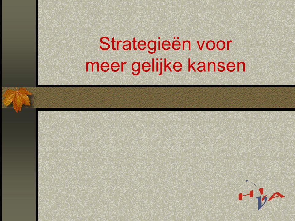 Strategieën voor meer gelijke kansen