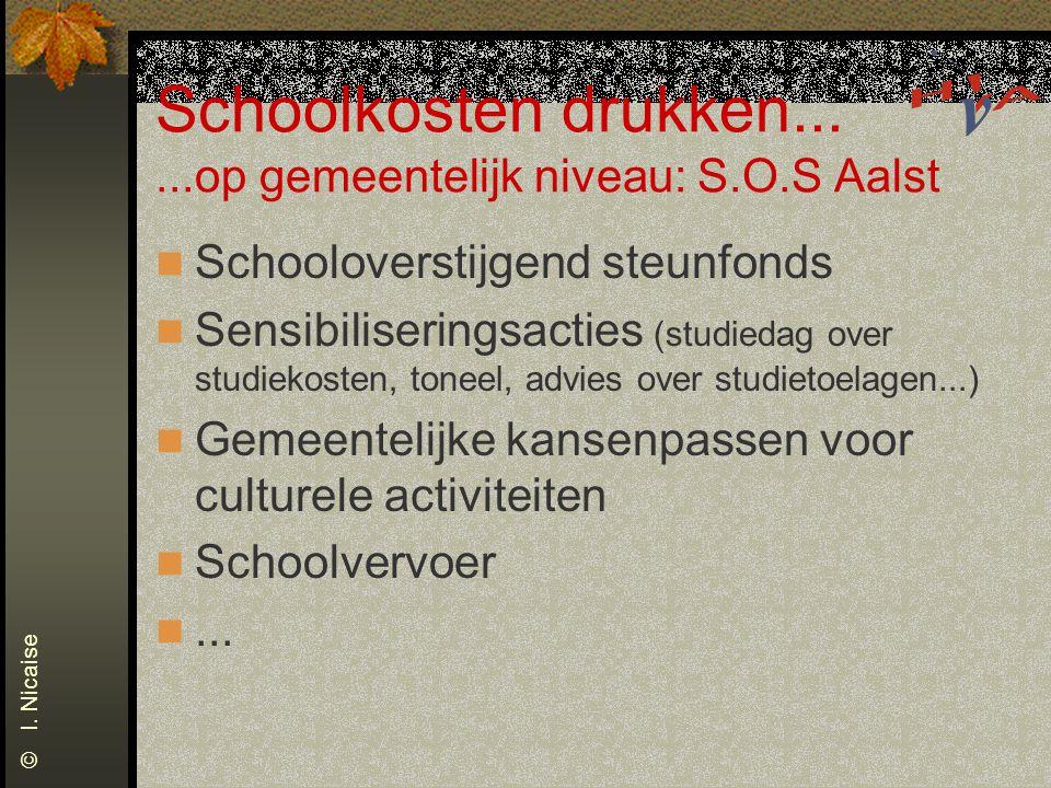Schoolkosten drukken... ...op gemeentelijk niveau: S.O.S Aalst