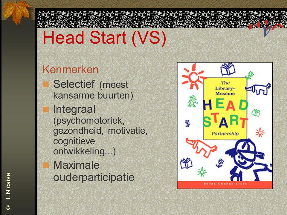 Head Start (VS) Kenmerken Selectief (meest kansarme buurten)