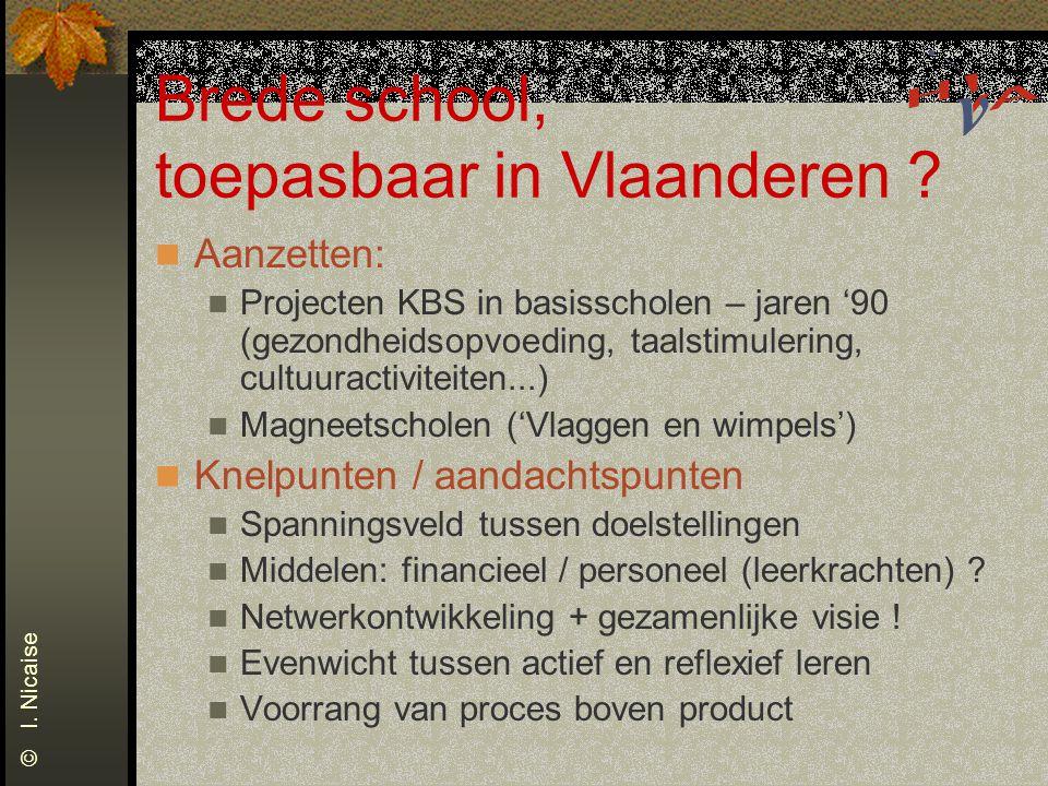 Brede school, toepasbaar in Vlaanderen